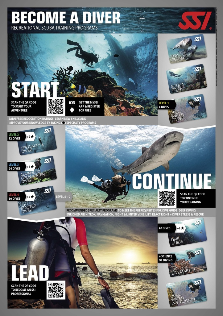 SSI Advanced Open Water Diver (4 Specialities Bundle)