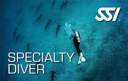 [SSI Course] SSI Speciality Diver (2 Specialties Bundle)